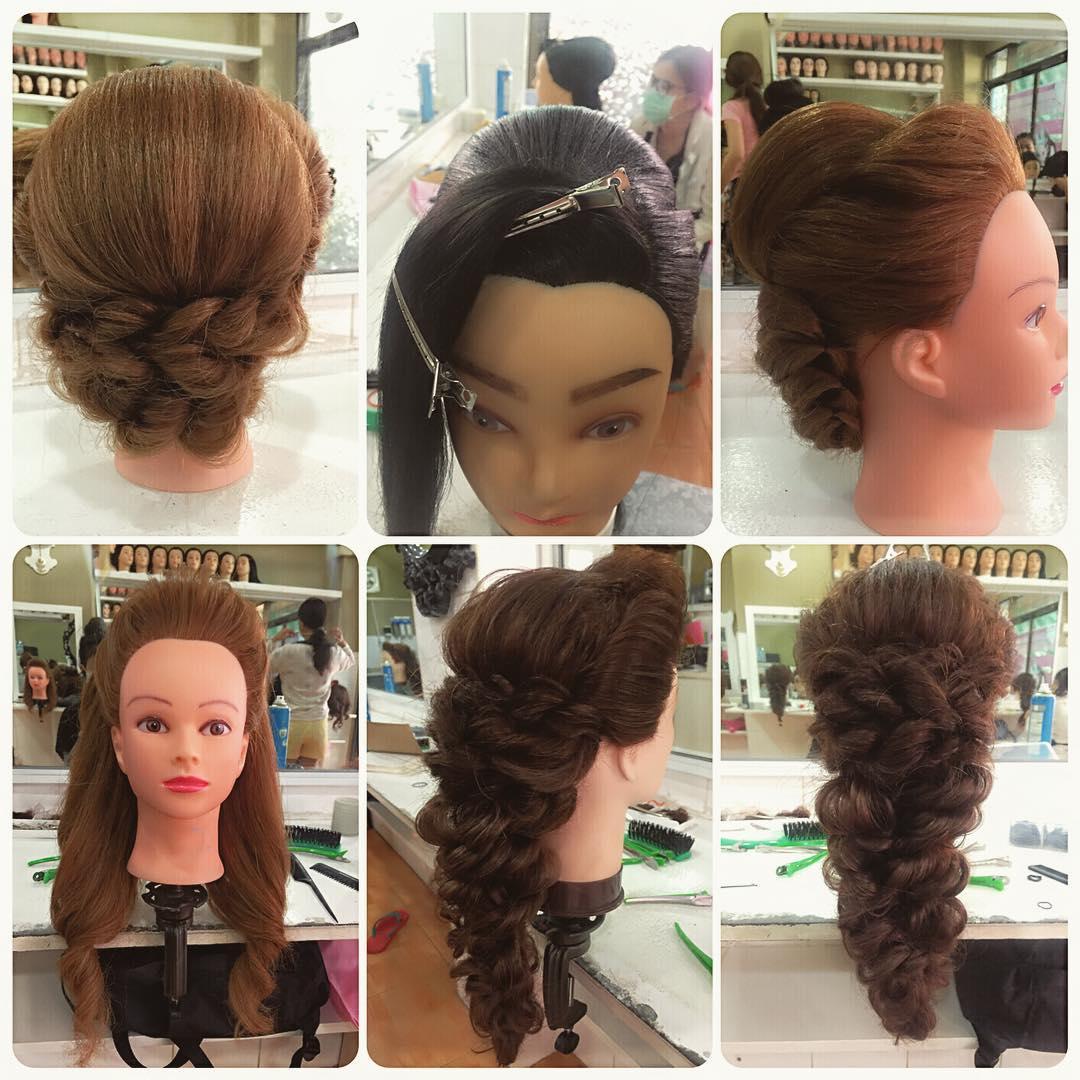 Håruppsättning, hårstyling kurs bild 1